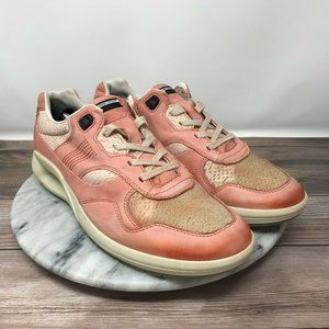 Ecco Pale Pink Stitched Leather Casual Sneakers 🌵